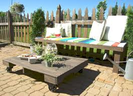 Building Outdoor Wood Furniture by Maximize Your Outdoor Space With A Pallet Coffee Table On Wheels