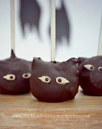 raw chocolate cake pops fork and beans