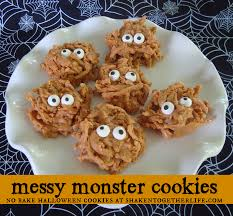 Monster Halloween List by No Bake Messy Monster Cookies