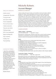Resume Examples  Account Manager Resume Examples  account manager     Rufoot Resumes  Esay  and Templates