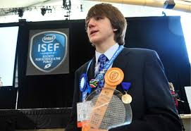 15 Year Old Freaks Out After Winning Intel's Highest Award ISEF 2012 (Video)