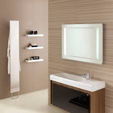 white wash basin on brown wooden bathroom vanity connected by