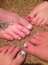 winter pedicure christmas nail designs my own creations