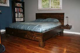 Diy Platform Bed Frame Designs by Diy Platform Bed With Floating Nightstands Diy Platform Bed