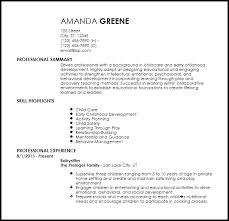 Resume For Nanny Job by Free Entry Level Nanny Resume Templates Resumenow