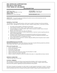 Best Resume Job by Customer Services Duties Resume