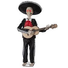Life Size Skeleton Halloween by Mariachi Skeleton Playing Guitar Animated Prop 305786