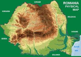This is a geographical map of Romainia.