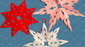 make snow flakes from paper cutting to decorate your room on