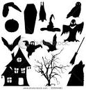 Icon Silhouettes of Halloween Objects Such As a Haunted House ... picturesof.net