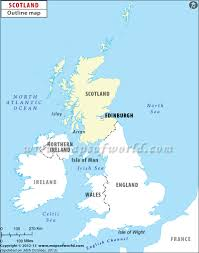 Blank Map Of Oceania by Blank Map Of Scotland Scotland Outline Map