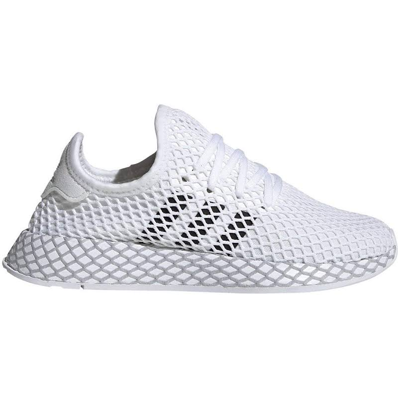 Adidas Deerupt Runner J Footwear White/Core Black-Grey Two F34295 Grade-School, 4
