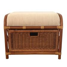 rattan storage ottoman finelymade furniture