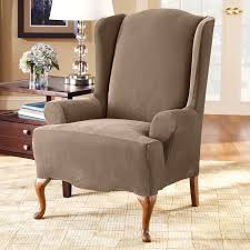 chair slipcovers destroybmx com impressive dark brown wingback chair slipcovers with charming magic wingback chair slipcovers