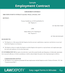 Letter Of Intent To Close Business by Employment Contract Free Employee Agreement Form Us Lawdepot