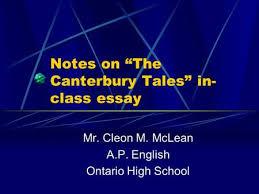 word essay on canterbury tales The Canterbury Tales Essay   Essay