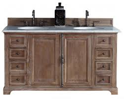providence driftwood double sink bathroom vanity soft close doors