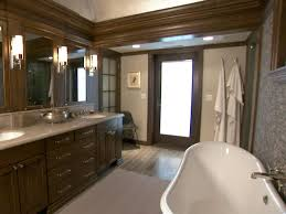 rustic bathroom lighting hgtv