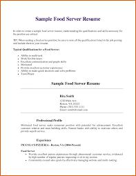 Example Server Resume by 100 Example Server Resume Cover Letter English Cv Sample
