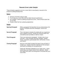 Example For Resume by Cover Letter For Resume Example Best Templatesimple Cover Letter