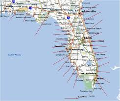 Boca Grande Florida Map by Map Of Florida East Coast And Beaches Map Of Florida Beaches