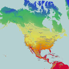 Thematic Maps Thematic Maps And City Temperature In North America Map