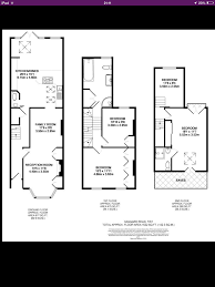 Floor Plans With Loft Victorian Terrace With Loft And And Back Extension Floor Plan