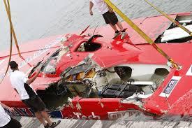 William Nocker dies in 120mph powerboat smash after he returned ... - Wreckage%20of%20British%20powerboat%20racer%20William%20Nocker's%20boat-1144076