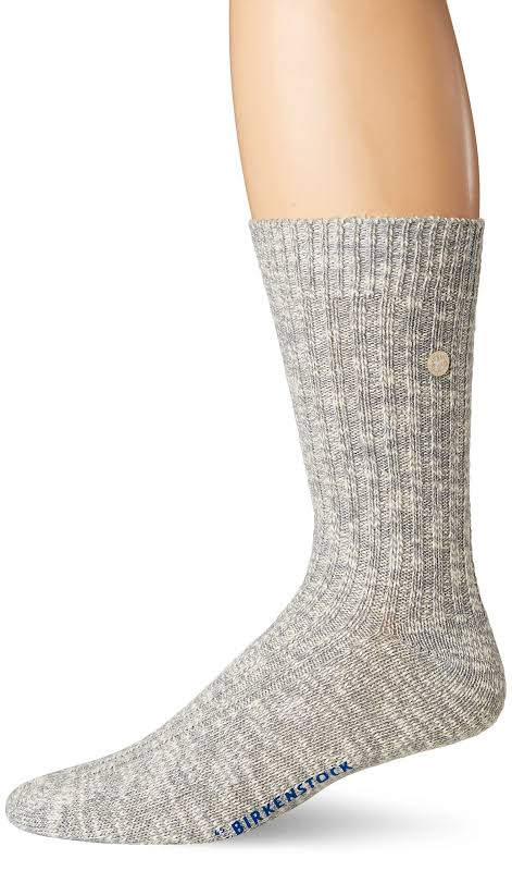 Birkenstock Cotton Slub Socks Gray White