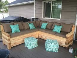 Building Outdoor Wood Furniture by Diy Pallet Outdoor Sectional Sofa Devine Paint Center Blog