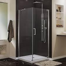 dreamline elegance 34 in d x 34 in w frameless pivot shower