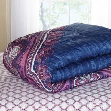 Purple Bed Sets by Mainstays Grace Medallion Purple Bed In A Bag Complete Bedding Set