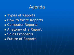 Report Writing Mallika Nawal  Agenda Types of Reports How to Write