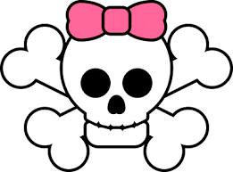 Jolly Roger with Pink Bow Tie