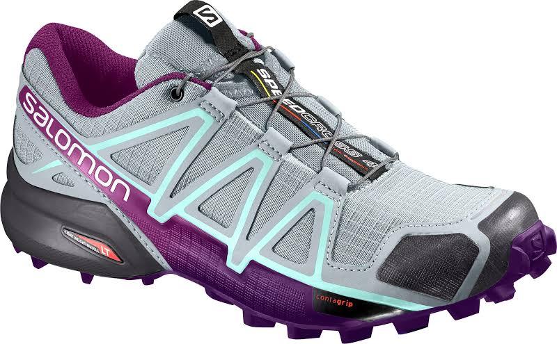 Salomon Speedcross 4 W Trail Running Shoe Quarry/Acai/Fair Aqua 5.5 US Regular L39466400-5.5