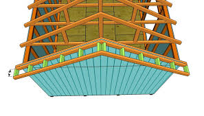 Plans For Building A Wood Storage Shed by How To Build A Roof For A 12x16 Shed Howtospecialist How To