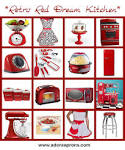 Retro Red Dream Kitchen | Adora Aprons Blog