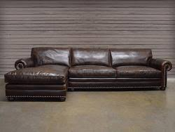 Leather Sofa Chaise by Leather Sectional Full Grain And Top Grain Leather At