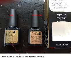 how to tell fake cnd shellac from authentic cnd shellac