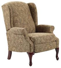 Furniture Stores In Asheboro Nc Recliners Hampton Traditional High Leg Recliner In Wing Chair