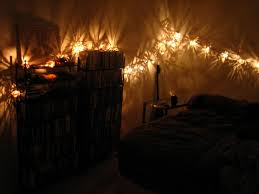 small bedroom lighting ideas with hanging string twinkle lights ideas