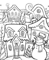 winter coloring pages for kindergarten coloringstar