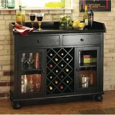 Wine Bar Decorating Ideas Home by Worn Black Wine Bar Console Stemware Glasses Spirits