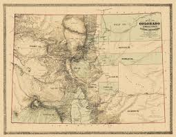 Map Of Colorado by Old State Map Colorado Territory Gold Region 1862