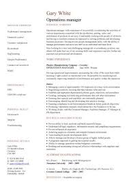 Sample Test Manager Resume by Management Cv Template Managers Jobs Director Project