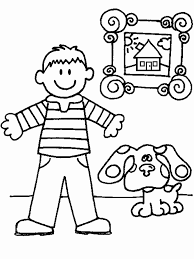 sanjay and craig coloring pages blues clues blue coloring home