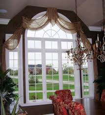 sheer arched swags custom window treatments pinterest swag