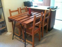Used Dining Room Furniture My Diy Recycled Timber Euro Pallet Dining Table I Used Steel