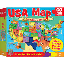 United States Map Delaware by Masterpieces Usa Map Puzzle 60 Pieces Walmart Com