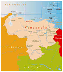Political Map Of Latin America by Large Political Map Of Venezuela With Major Cities Venezuela
